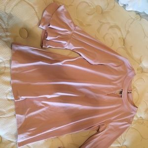 Charter Club Pink bell sleeve blouse